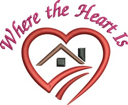 Where Heart Is embroidery design