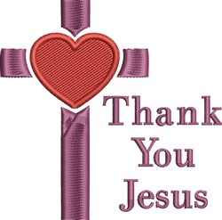 Thank You Jesus embroidery design