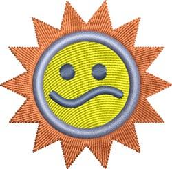 Sad Sun embroidery design