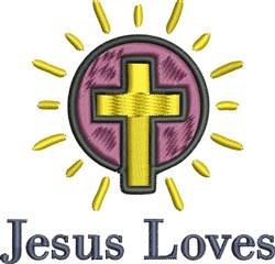Jesus Loves embroidery design