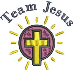 Team Jesus embroidery design