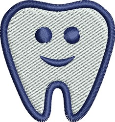 Smiley Tooth embroidery design