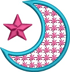 Star Moon embroidery design
