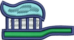 Toothbrush embroidery design