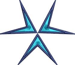 Arrow Triad embroidery design