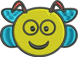 Bee Face embroidery design