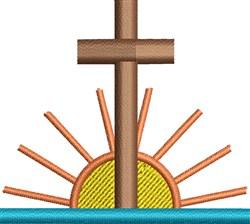 Cross Sunrise embroidery design