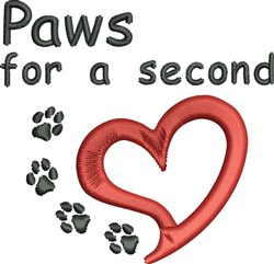 Paws For Second embroidery design