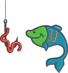 Happy Fish embroidery design