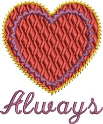 Always Heart embroidery design