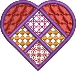 Decorative Heart embroidery design