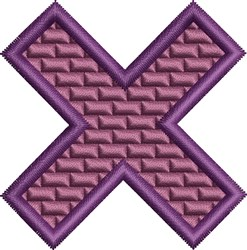 Purple X embroidery design