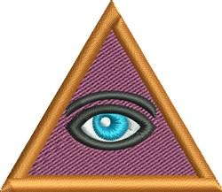 Pyramid Eye embroidery design