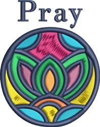 Pray Decoration embroidery design
