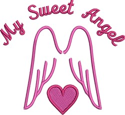 Sweet Angel embroidery design