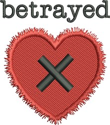 Betrayed X embroidery design