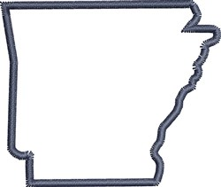Arkansas Outline embroidery design