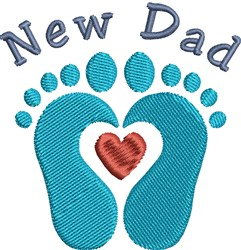 New Dad embroidery design