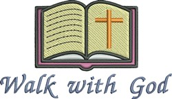 Walk With God embroidery design