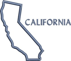 California Outline embroidery design