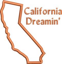 California Dreamin Outline embroidery design