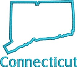 Connecticut Outline embroidery design