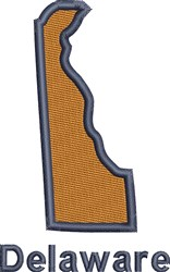 Delaware embroidery design