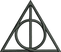 Deathly Hallows Symbol embroidery design