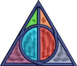 Colorful Traingle embroidery design