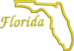 Florida Outline embroidery design