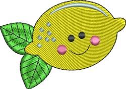 Happy Lemon embroidery design