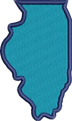 Illinois State embroidery design