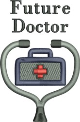 Future Doctor embroidery design