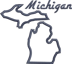 Michigan Outline embroidery design