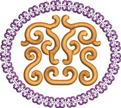 Scroll Circle embroidery design