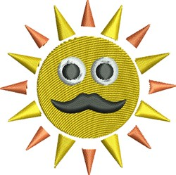 Sunshine Face embroidery design