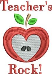 Teachers Rock embroidery design