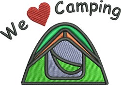 We Love Camping embroidery design