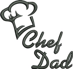 Chef Dad embroidery design