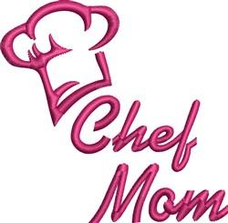 Chef Mom embroidery design