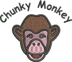Chunky Monkey embroidery design