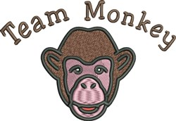 Team Monkey embroidery design