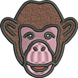 Chimpanzee Face embroidery design