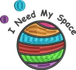 Need My Space embroidery design