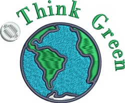 Think Green embroidery design