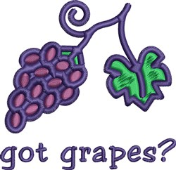 Got Grapes embroidery design