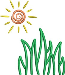 Grass Sunshine embroidery design