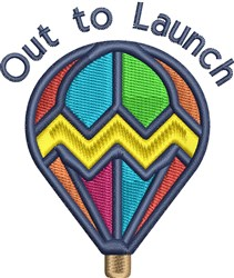 Out To Launch embroidery design