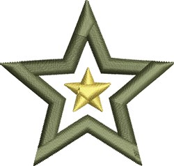 Military Star embroidery design