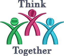 Think Together embroidery design